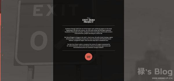 开动大脑!20个顶尖的HTML5动画网站欣赏!7.The Exit Zero Project