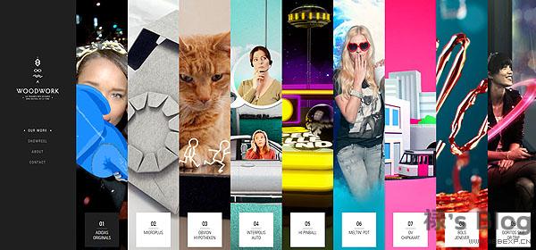 开动大脑!20个顶尖的HTML5动画网站欣赏!10.Woodwork