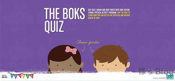开动大脑!20个顶尖的HTML5动画网站欣赏!15.The Boks quiz