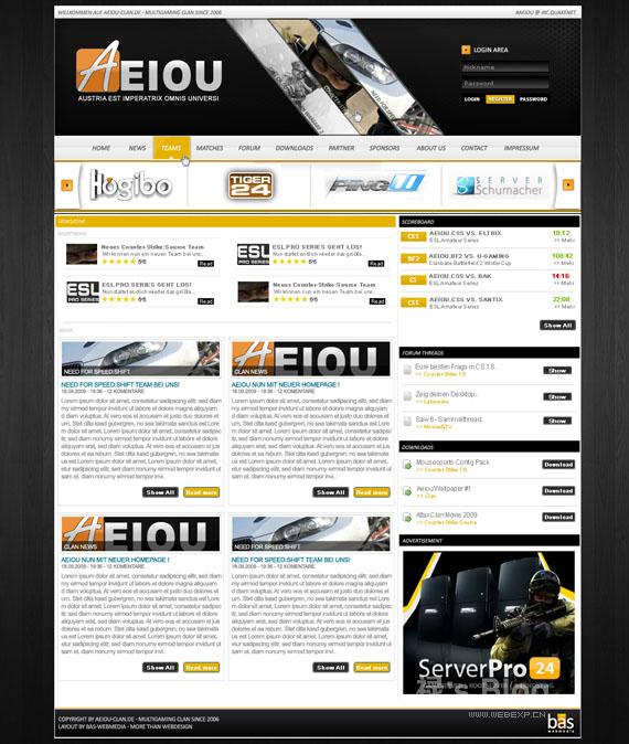 灵感的干货!46个为你带来灵感的游戏网站设计!Aeiou by BAS-design