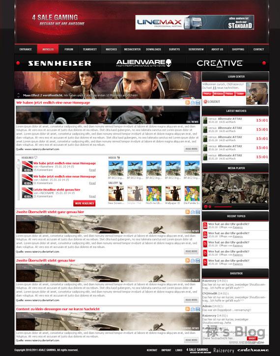 灵感的干货!46个为你带来灵感的游戏网站设计!Gaming by Raizercry