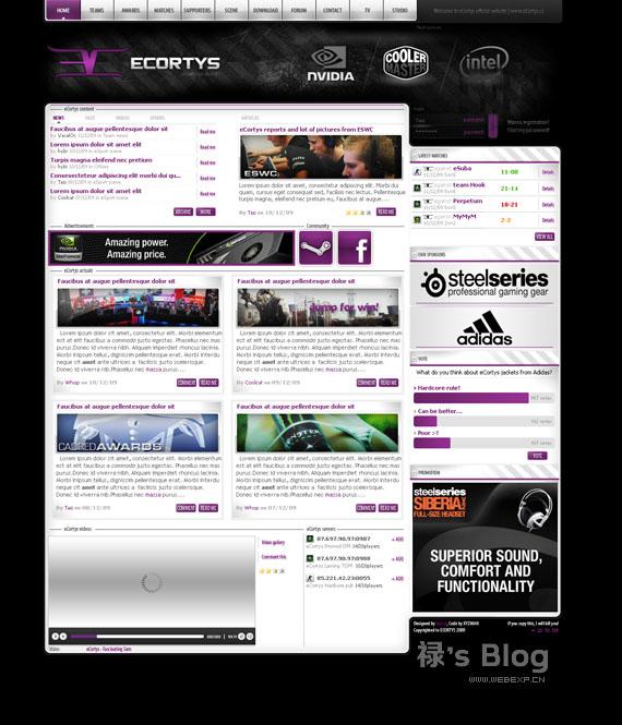 灵感的干货!46个为你带来灵感的游戏网站设计!eCortys by tasii