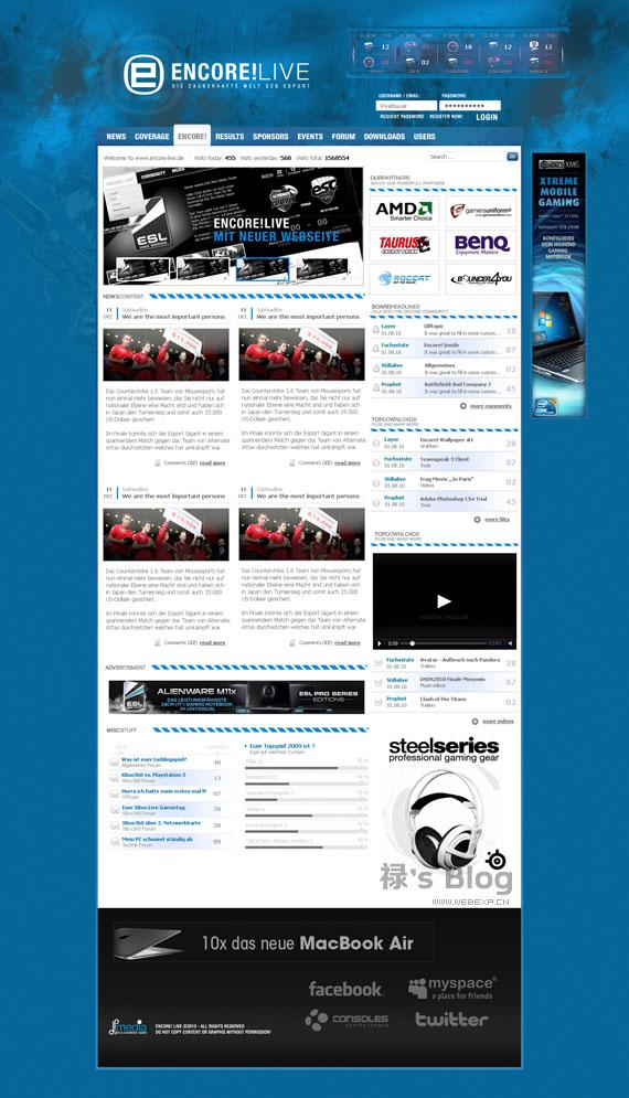 灵感的干货!46个为你带来灵感的游戏网站设计!Encor by Pixelbauer