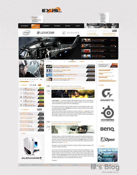 灵感的干货!46个为你带来灵感的游戏网站设计!Exxis Dawn by akses