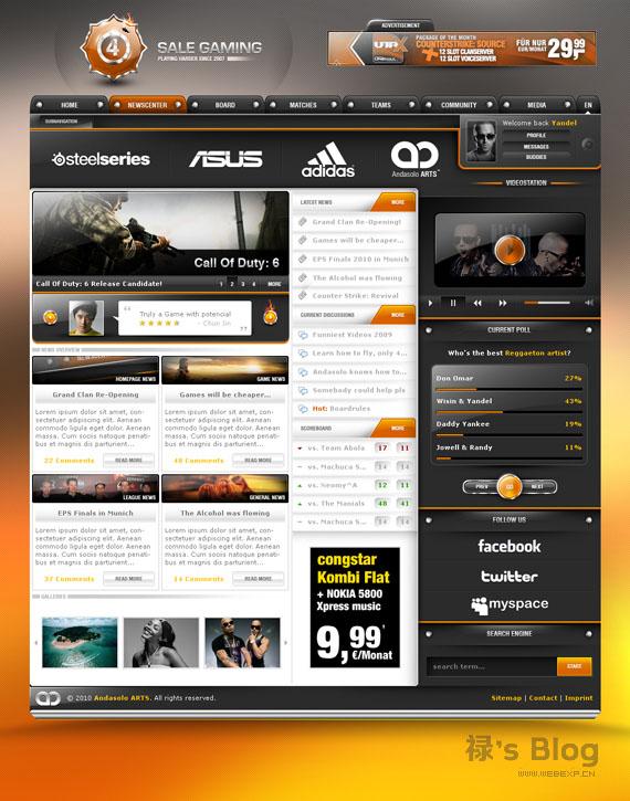 灵感的干货!46个为你带来灵感的游戏网站设计!4 Sale Gaming AndasoloARTS