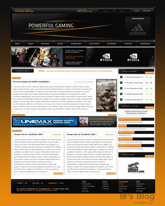 灵感的干货!46个为你带来灵感的游戏网站设计!Powerful by ~iSHOKZ