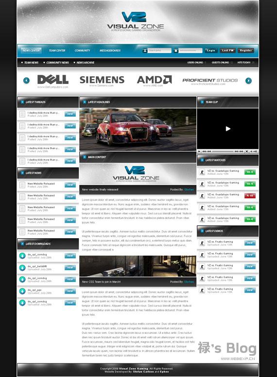 灵感的干货!46个为你带来灵感的游戏网站设计!Visual Zone by zblowfish