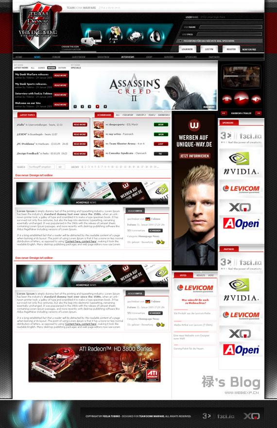 灵感的干货!46个为你带来灵感的游戏网站设计!Warfare by tobimo