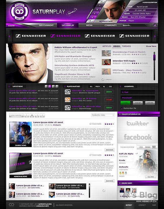 灵感的干货!46个为你带来灵感的游戏网站设计!SaturnPlay by AndasoloARTS
