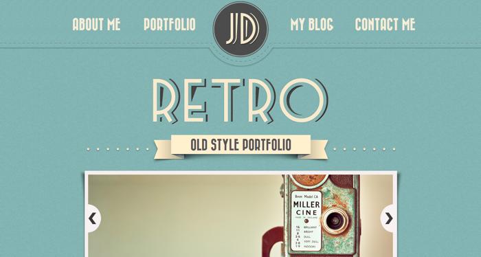 32个超赞复古网站设计,最时尚的复古风设计灵感!Retro Old Style Portfolio