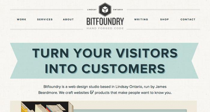 32个超赞复古网站设计,最时尚的复古风设计灵感!Bitfoundry