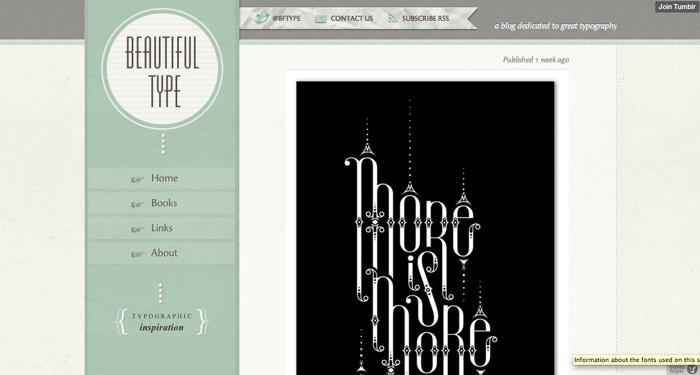 32个超赞复古网站设计,最时尚的复古风设计灵感!Beautiful Type