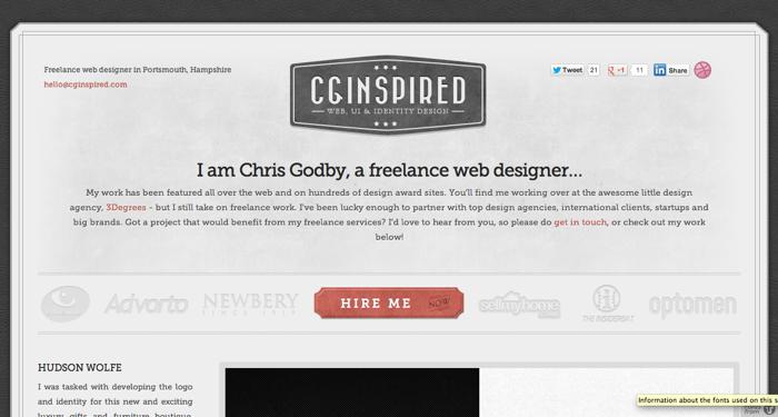 32个超赞复古网站设计,最时尚的复古风设计灵感!CG Inspired