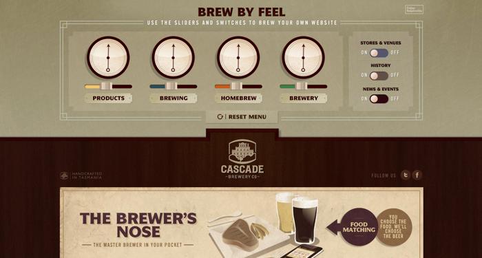 32个超赞复古网站设计,最时尚的复古风设计灵感!Cascade Brewery Co