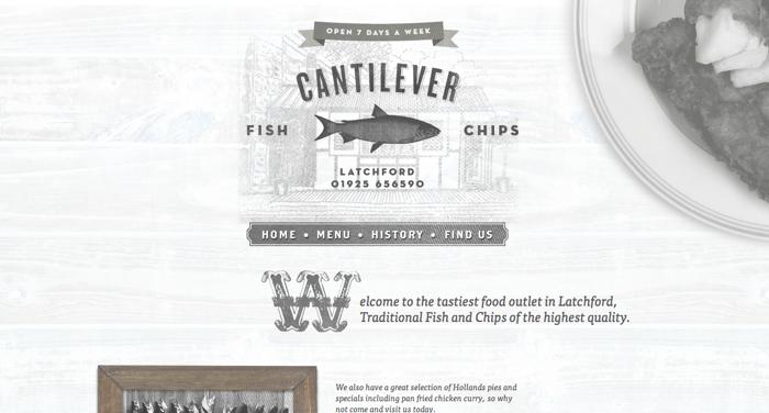 32个超赞复古网站设计,最时尚的复古风设计灵感!Cantilever Chippy