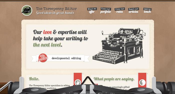 32个超赞复古网站设计,最时尚的复古风设计灵感!The Threepenny Editor