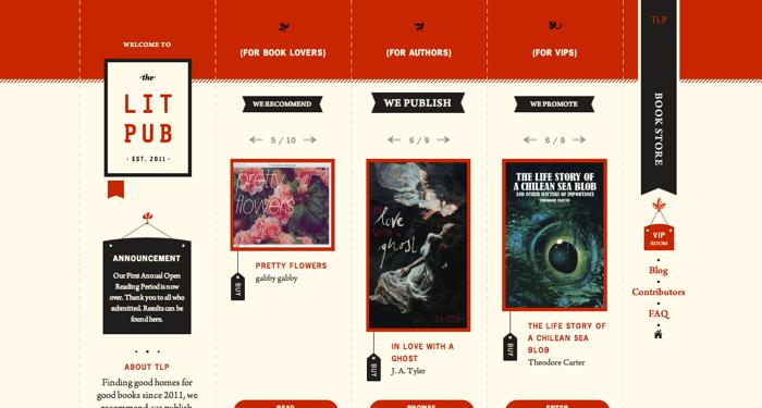 32个超赞复古网站设计,最时尚的复古风设计灵感!The Lit Pub