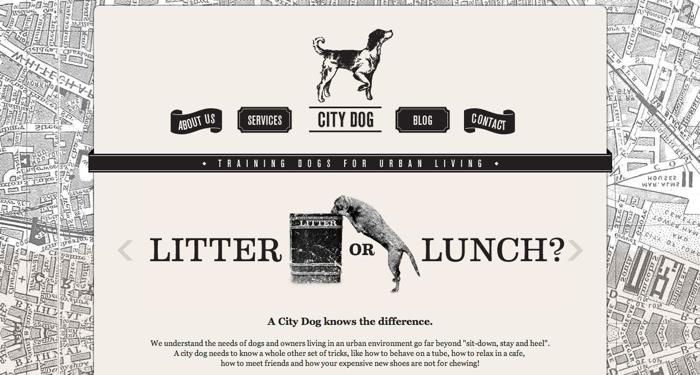 32个超赞复古网站设计,最时尚的复古风设计灵感!City Dog