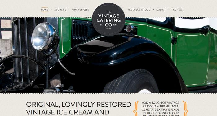 32个超赞复古网站设计,最时尚的复古风设计灵感!The Vintage Catering Co