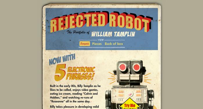 32个超赞复古网站设计,最时尚的复古风设计灵感!Rejected Robot
