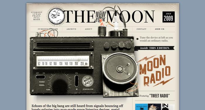 32个超赞复古网站设计,最时尚的复古风设计灵感!The New York Moon