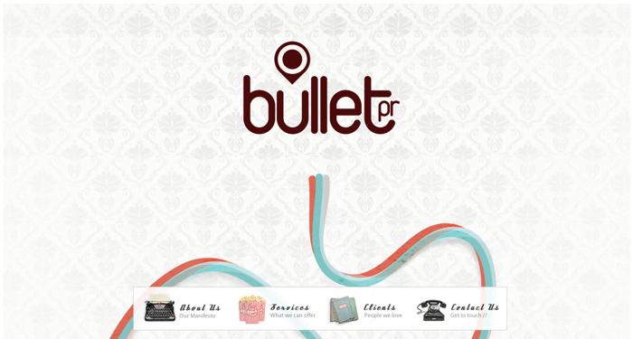 32个超赞复古网站设计,最时尚的复古风设计灵感!Bullet PR